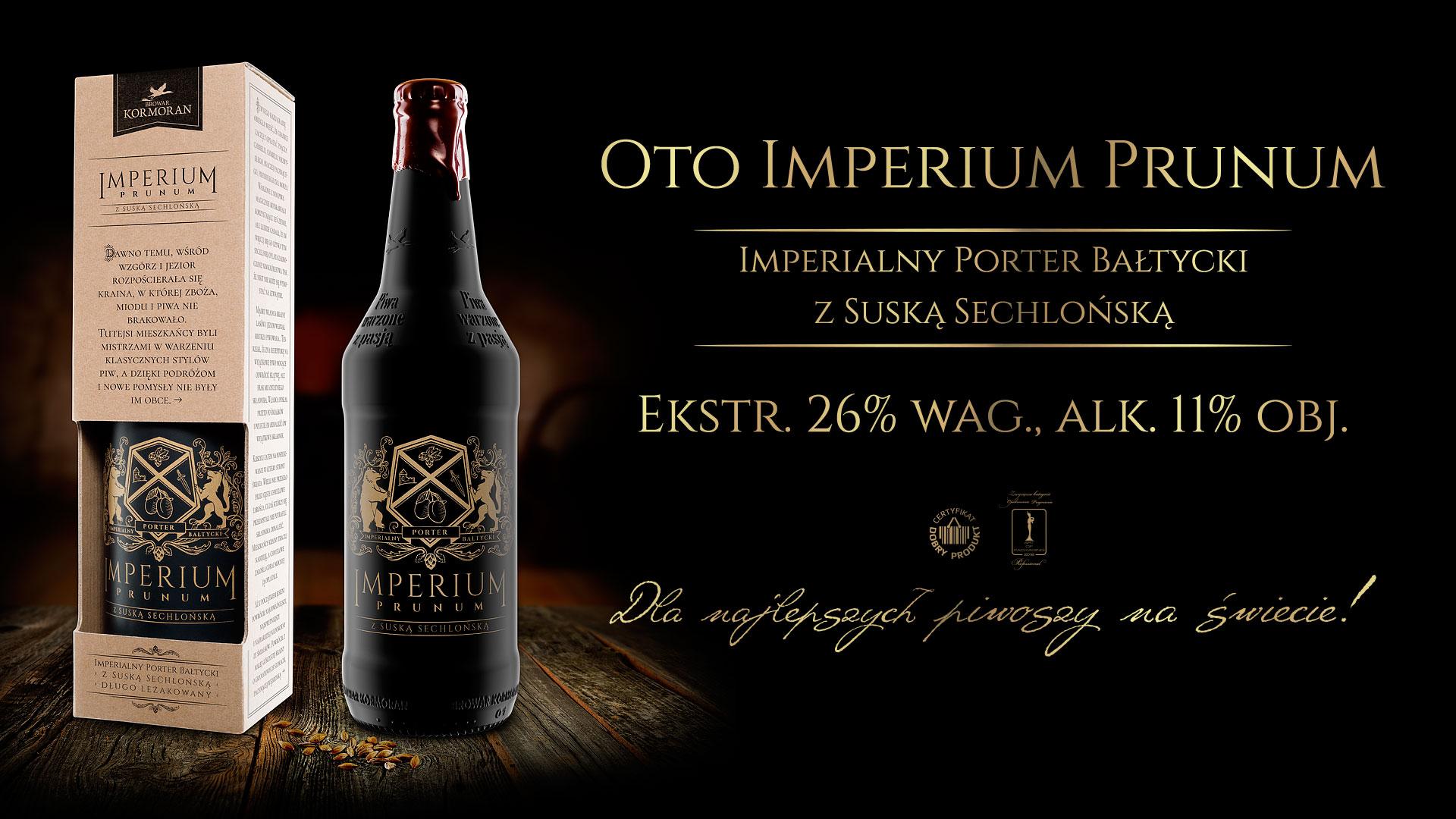 Piwo Imperium Prunum - Browar Kormoran