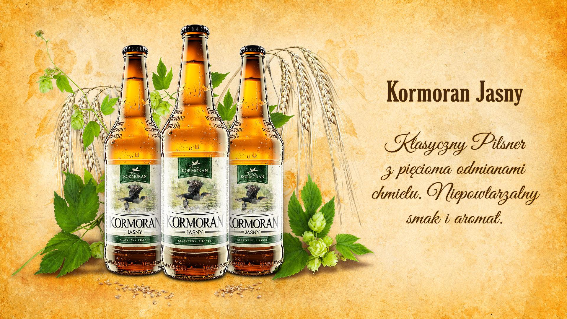 Piwo Kormoran Jasny - Browar Kormoran