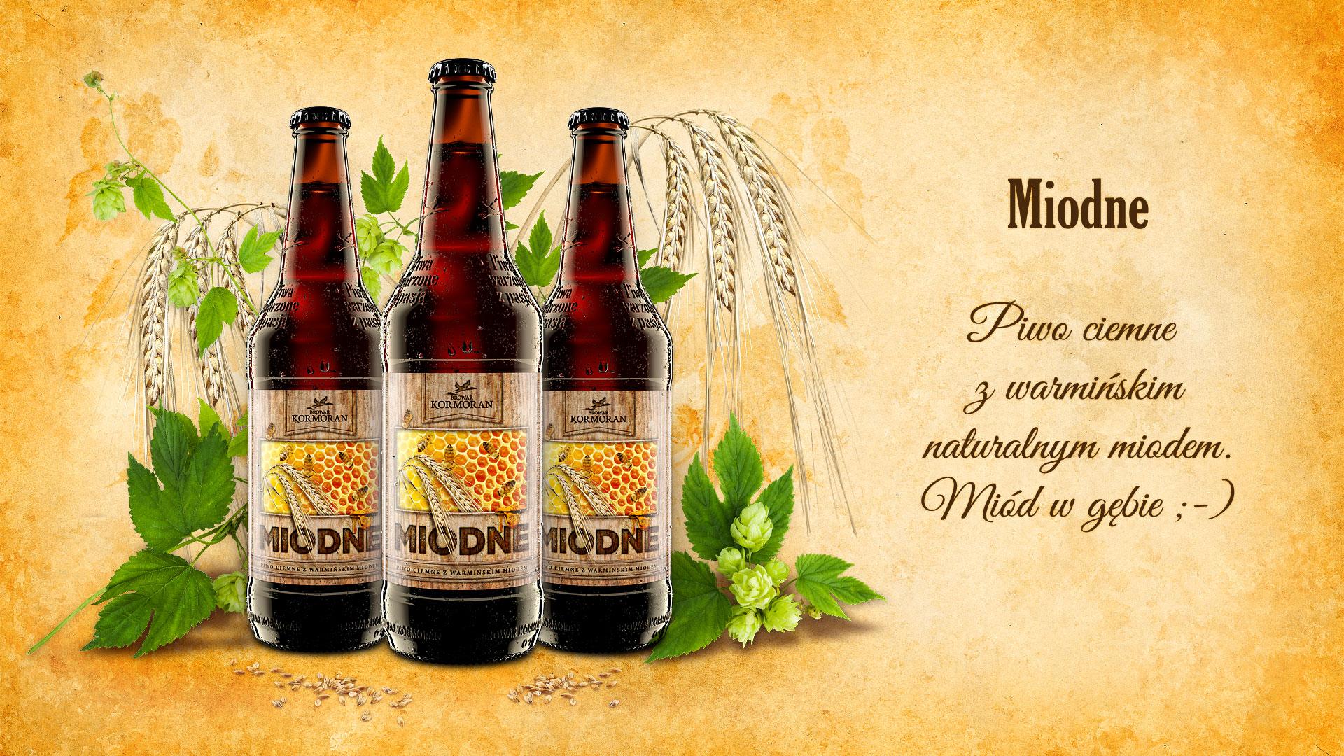 Piwo Miodne - Browar Kormoran