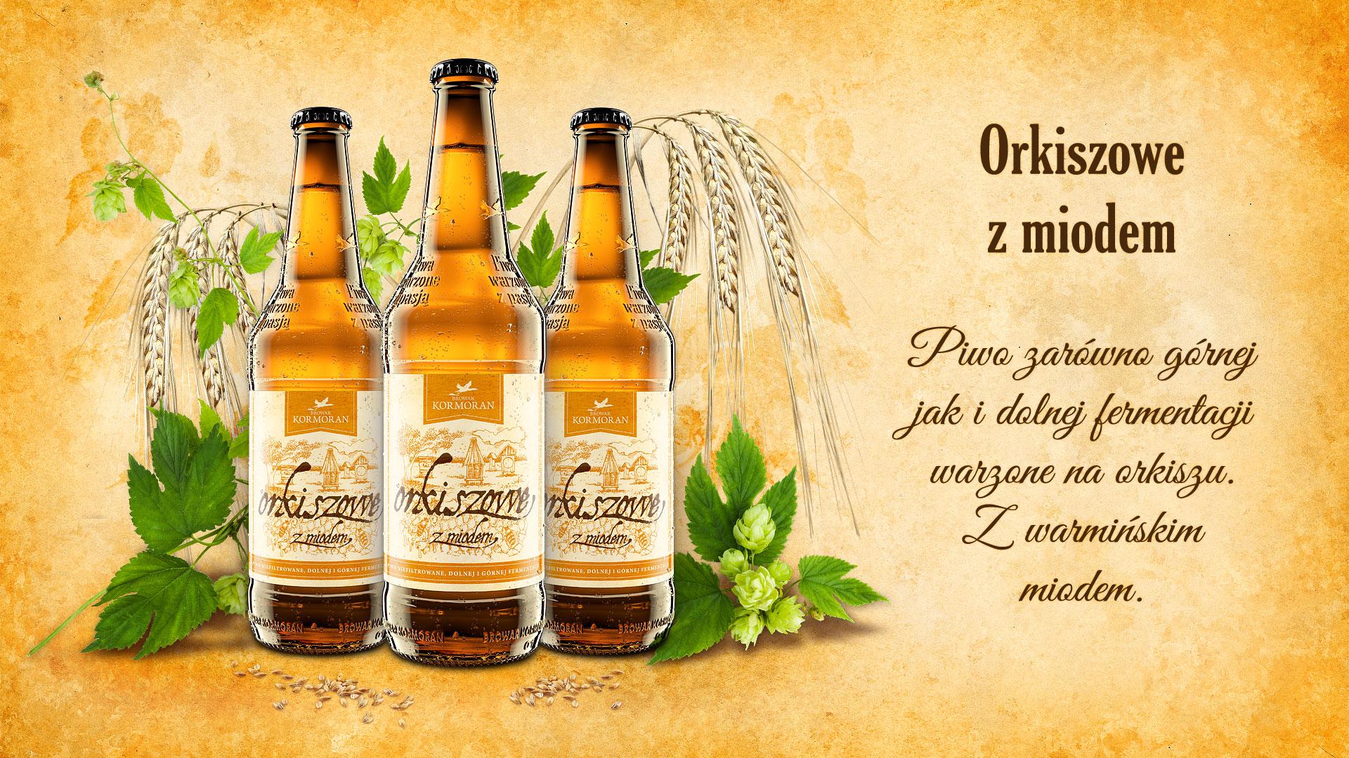 Piwo Orkiszowe z Miodem - Browar Kormoran