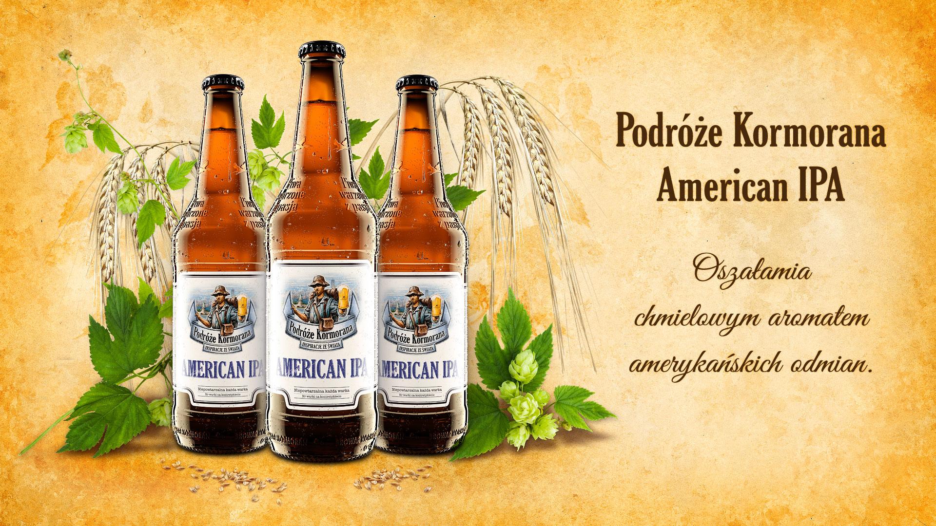 Piwo Podróże Kormorana American IPA - Browar Kormoran