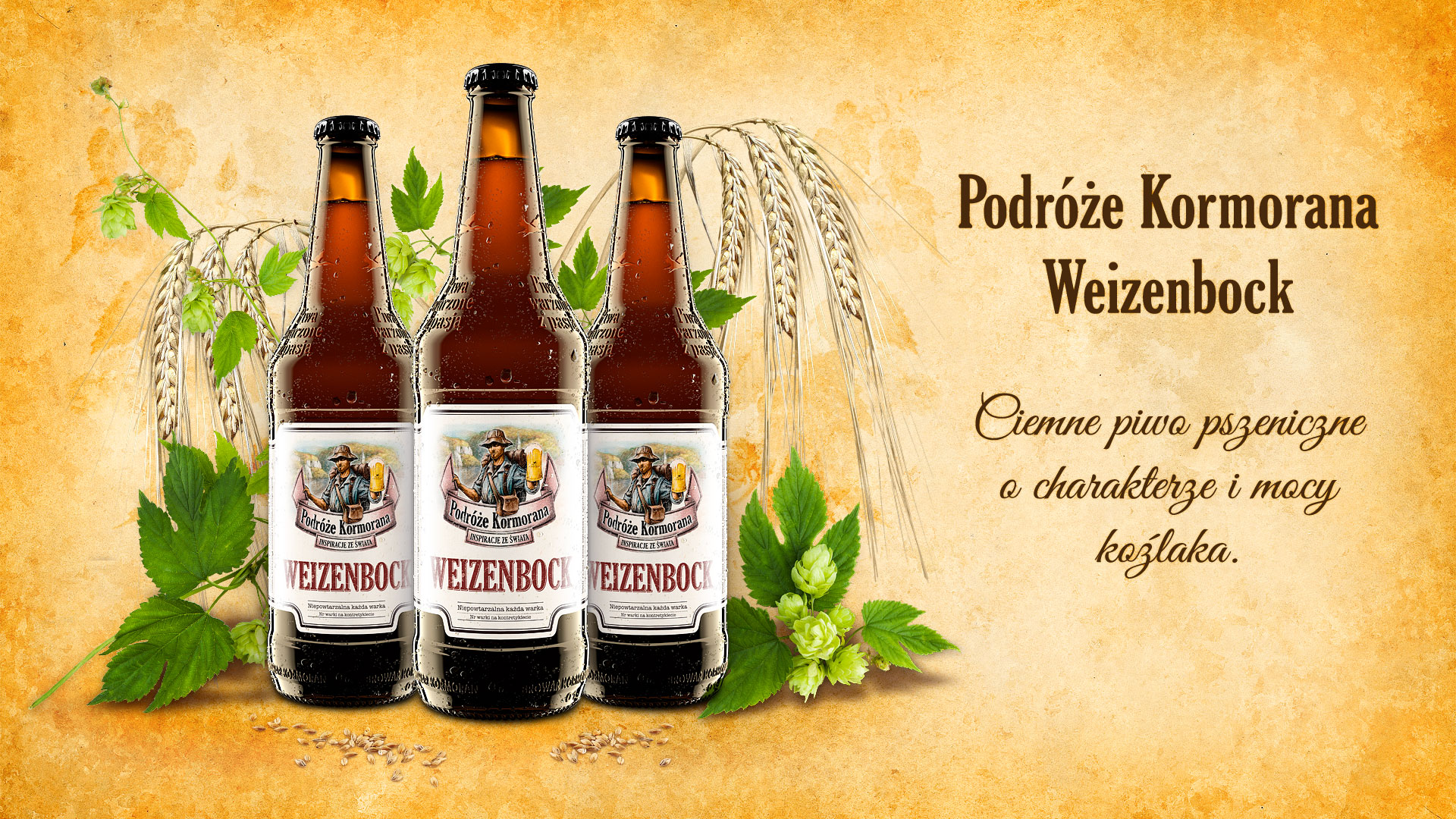 Piwo Podróże Kormorana Weizenbock - Browar Kormoran