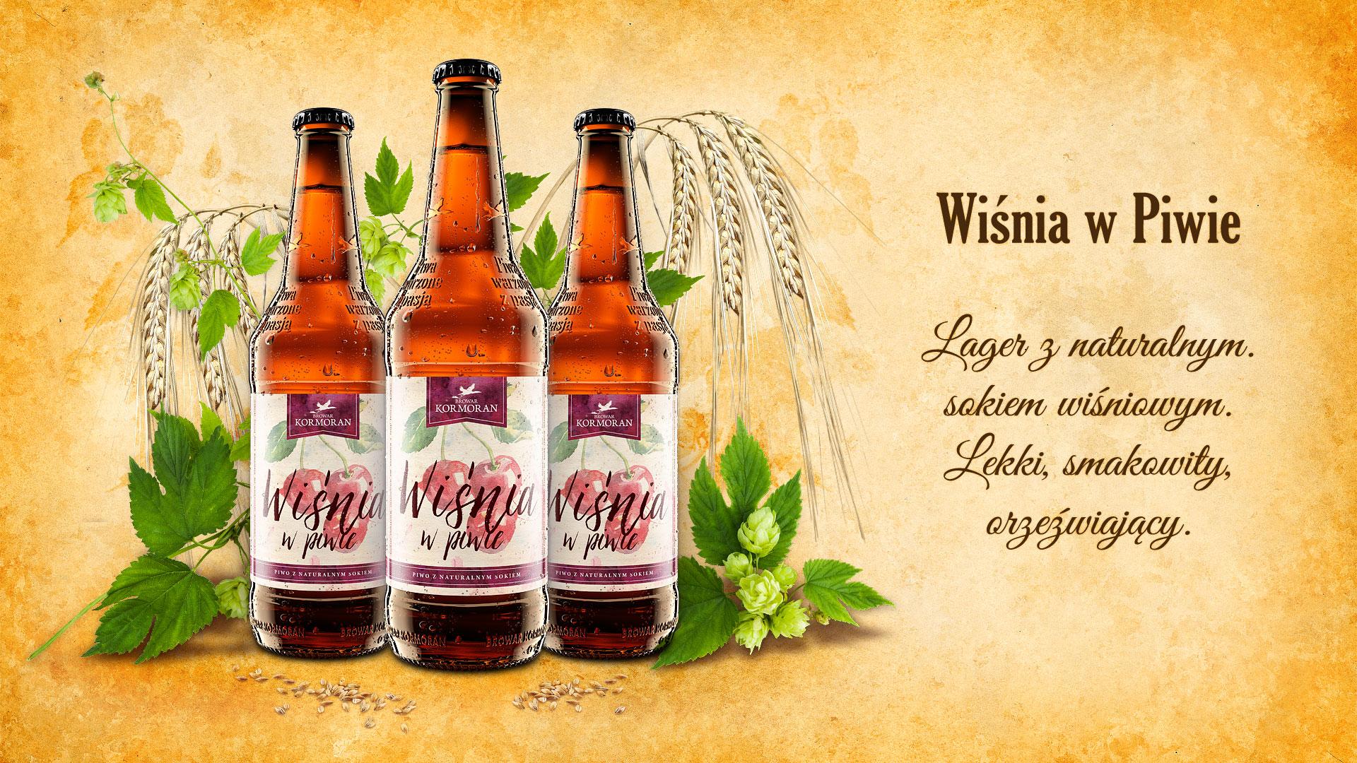 Piwo Wiśnia w Piwie - Browar Kormoran