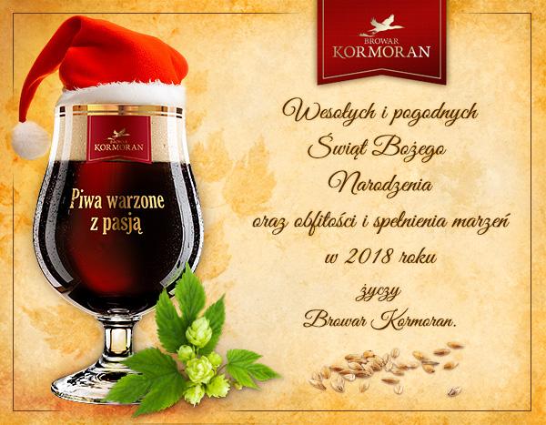 Wesołych Świąt 2017 życzy Browar Kormoran