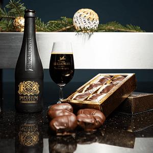 Imperium Pralinum - piwne czekoladki ze śliwki wędzonej marynowanej w Imperium Prunum