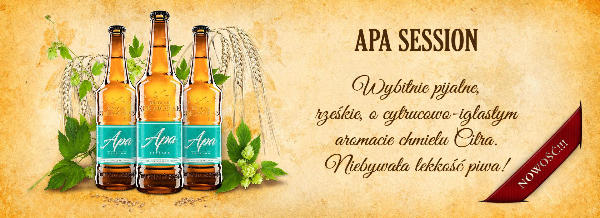 Piwo APA SESSION - Browar Kormoran - nowość!