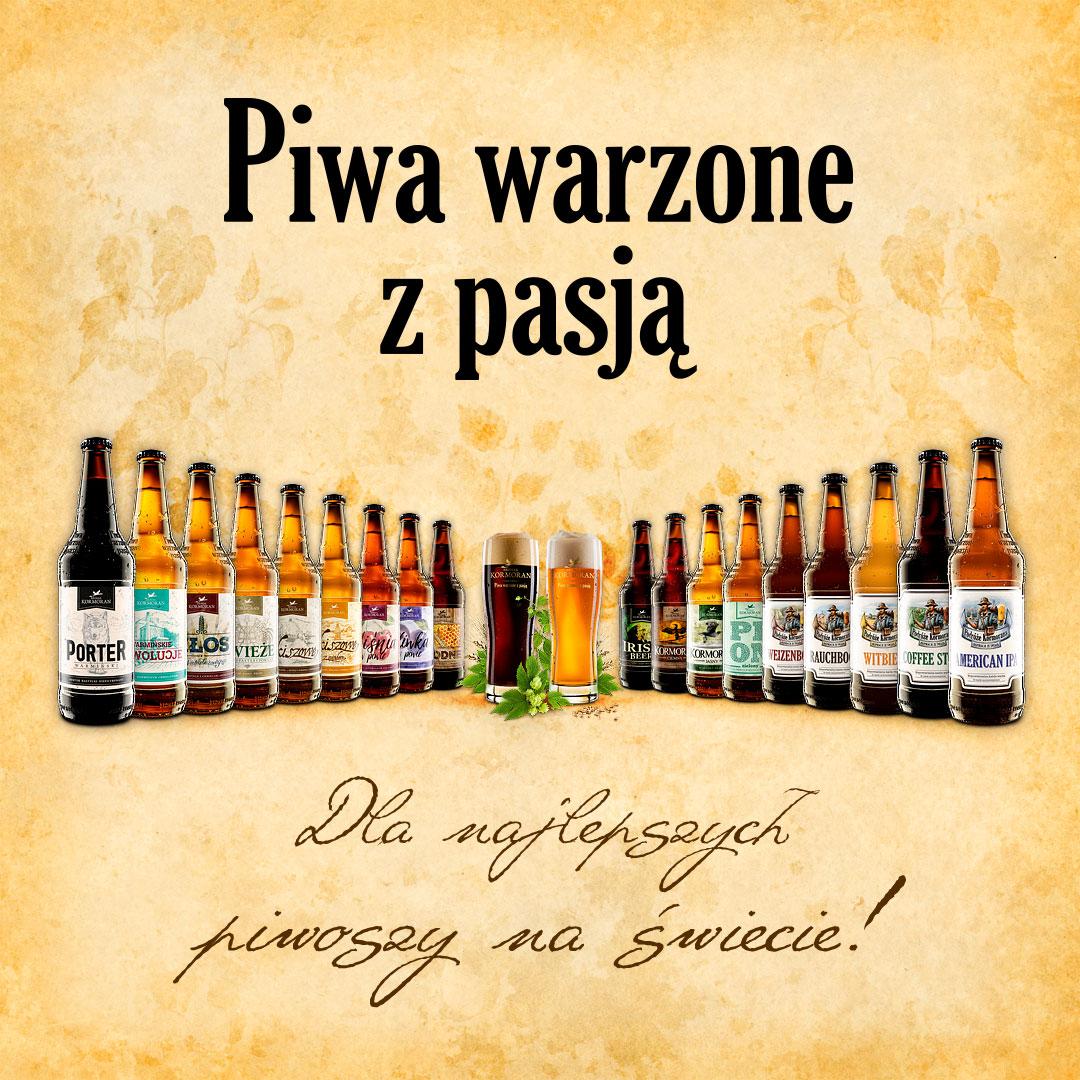 Browar Kormoran - Piwa warzone z pasją