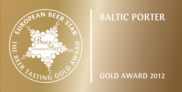 European Beer Star 2012 - Gold - Porter Warmiński