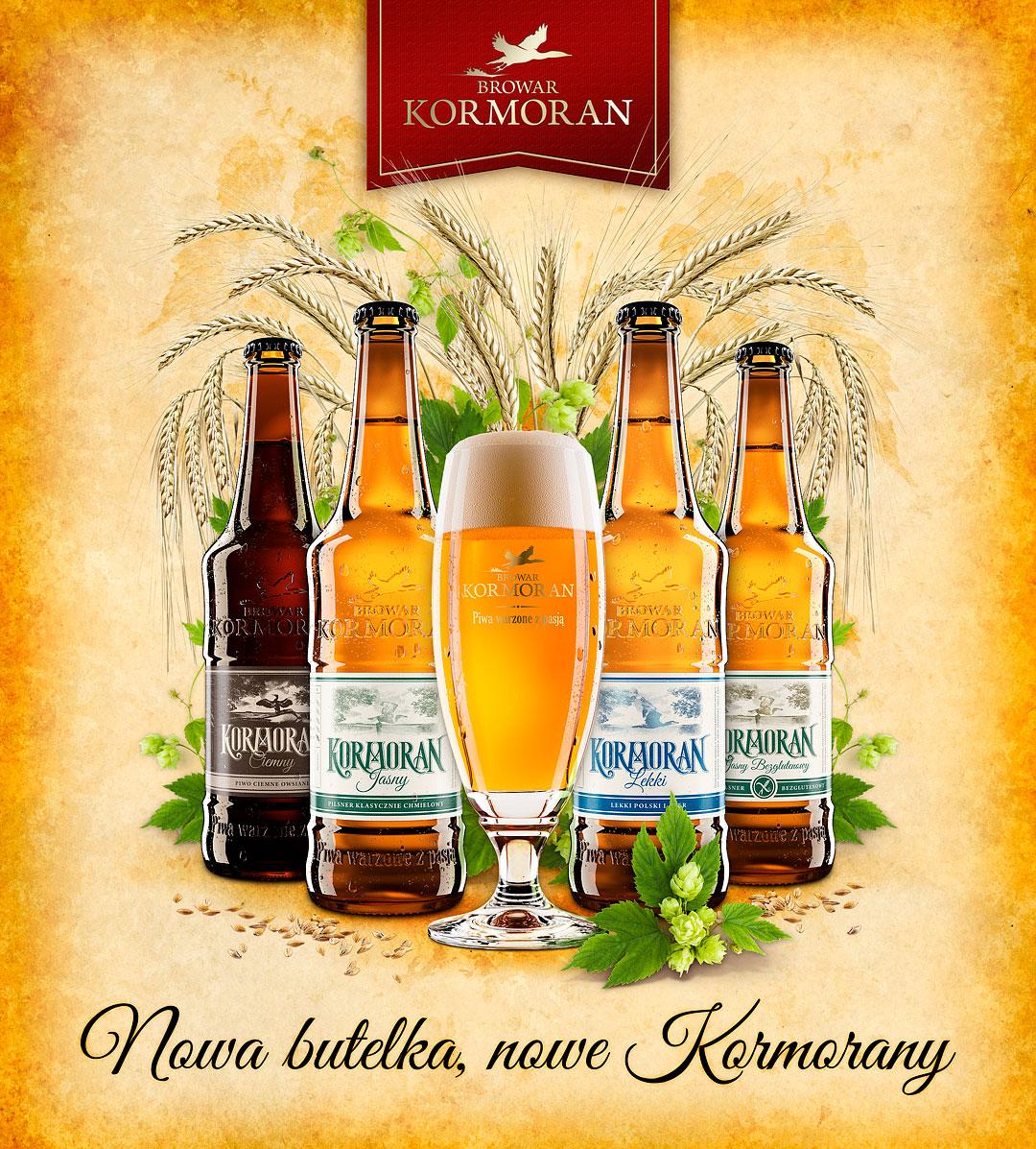 Nowa butelka, nowe Kormorany - Browar Kormoran