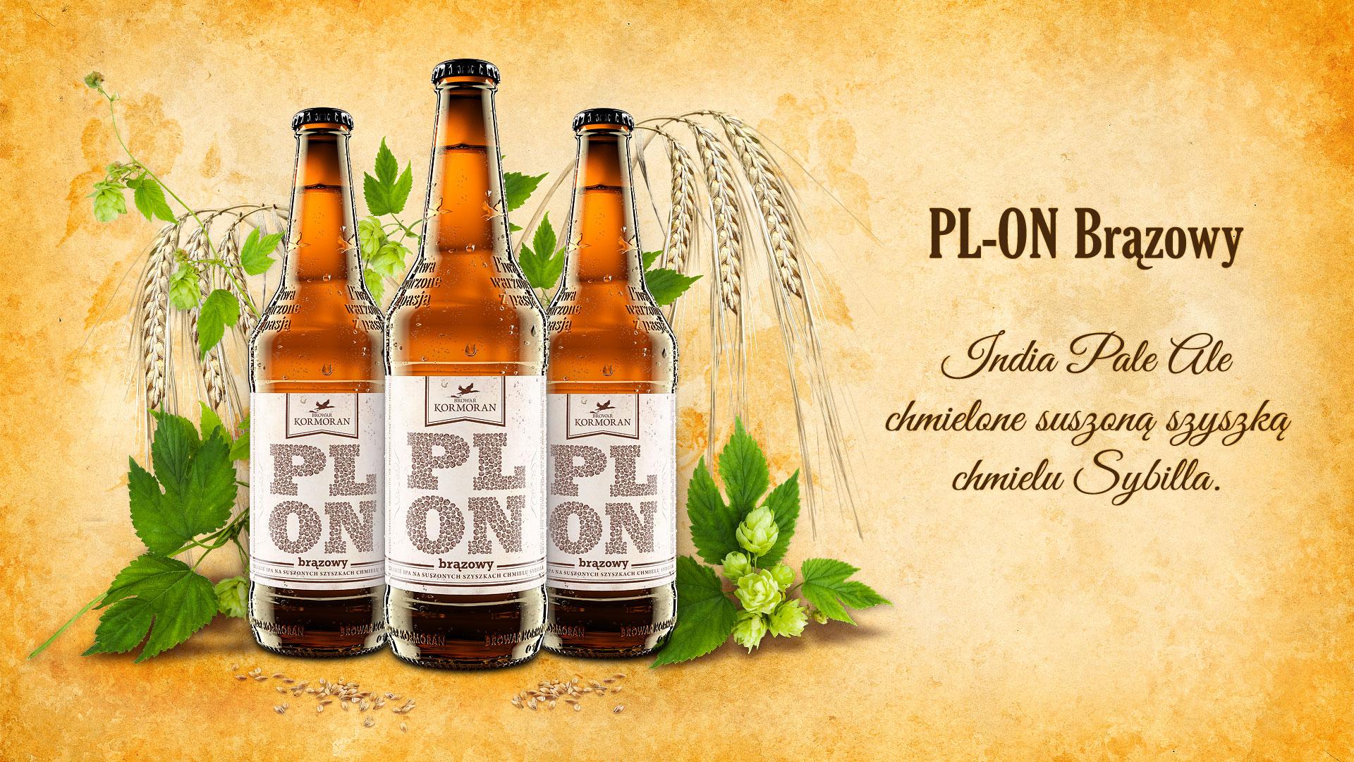 Piwo PLON Brązowy - Browar Kormoran