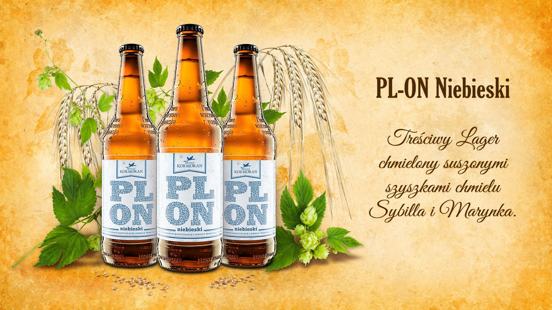 Piwo PLON Niebieski - Browar Kormoran