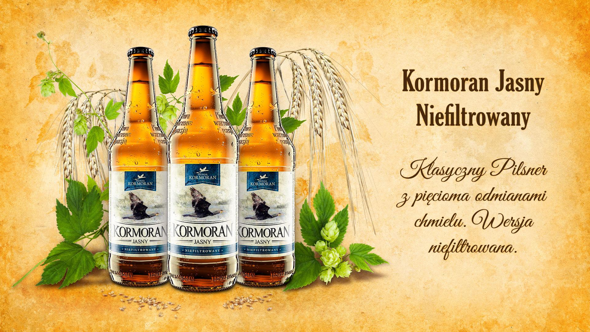 Piwo Kormoran Jasny Niefiltrowany - Browar Kormoran