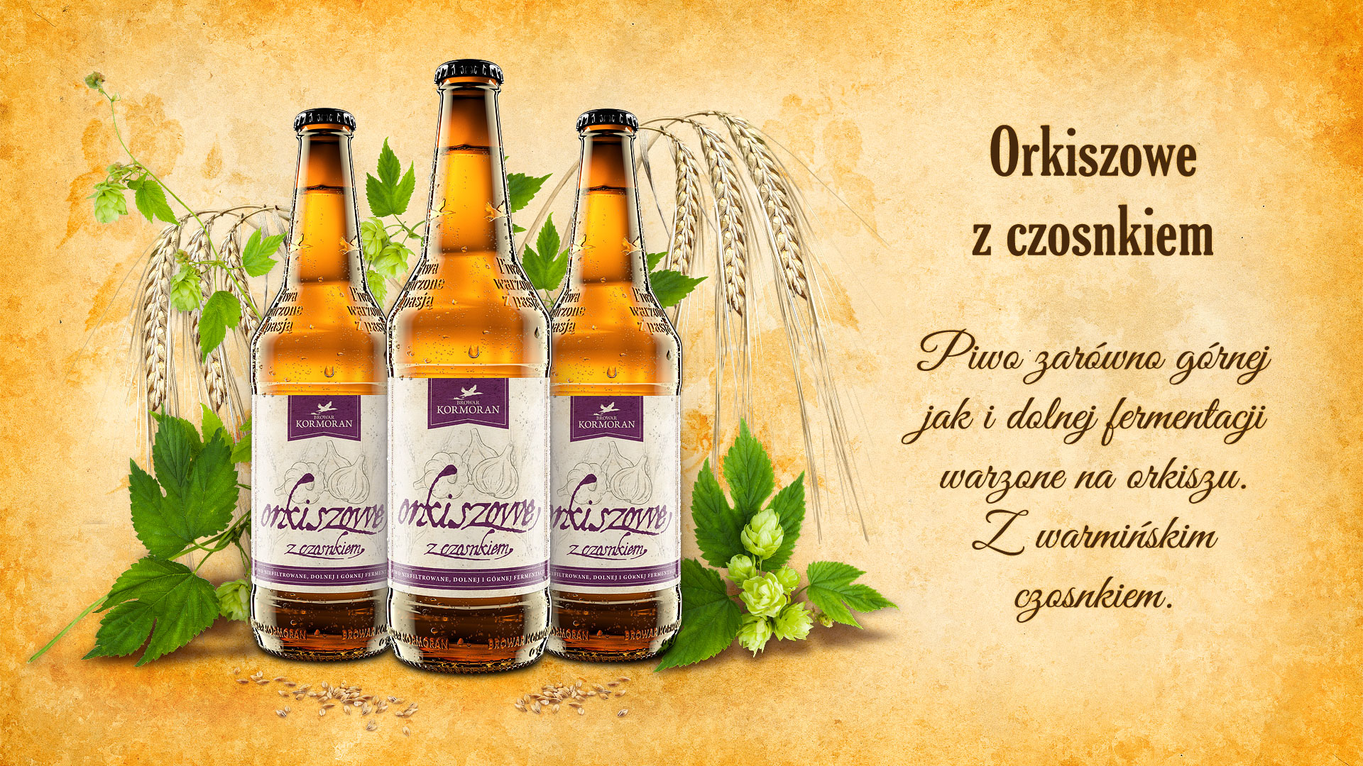 Piwo Orkiszowe z Czosnkiem - Browar Kormoran