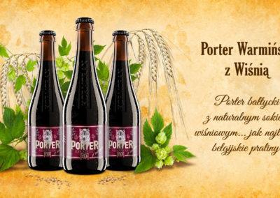 Porter Warmiński z Wiśnią
