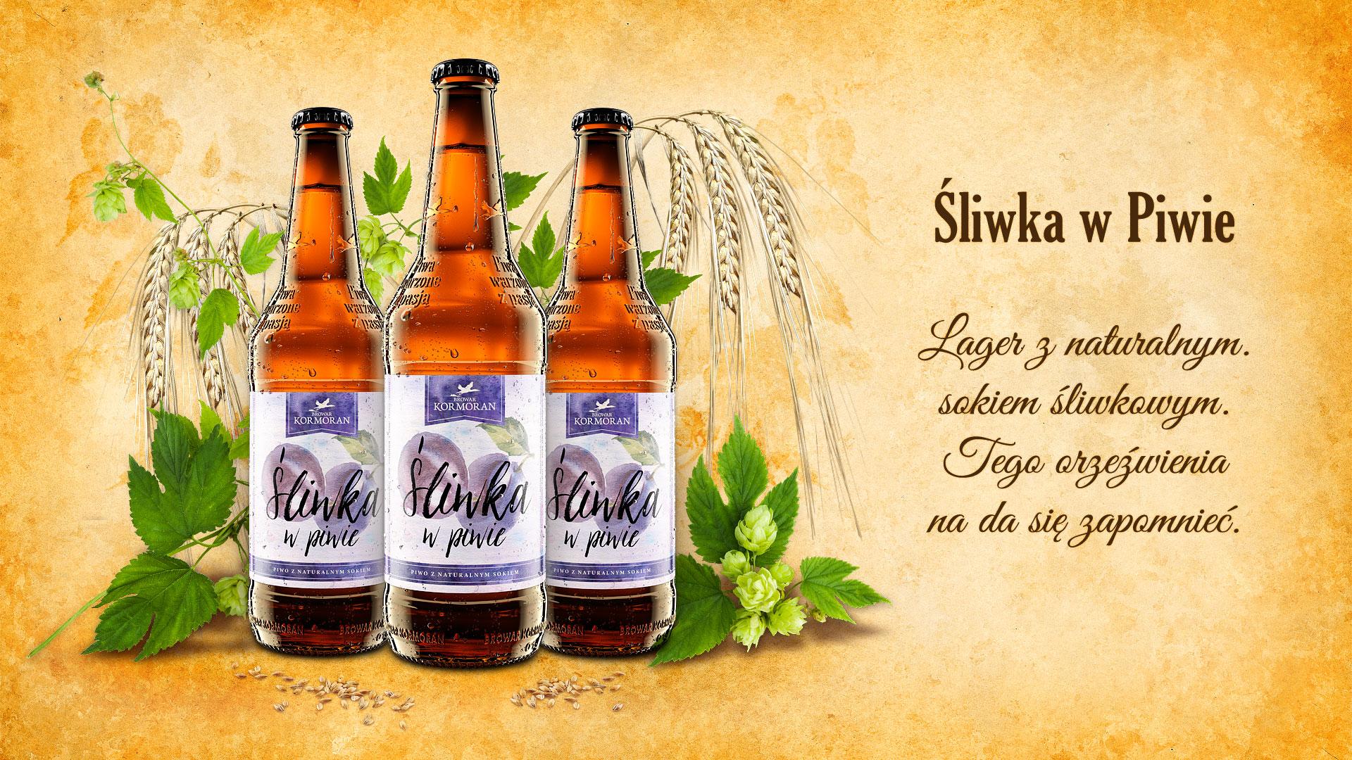 Piwo Śliwka w Piwie - Browar Kormoran