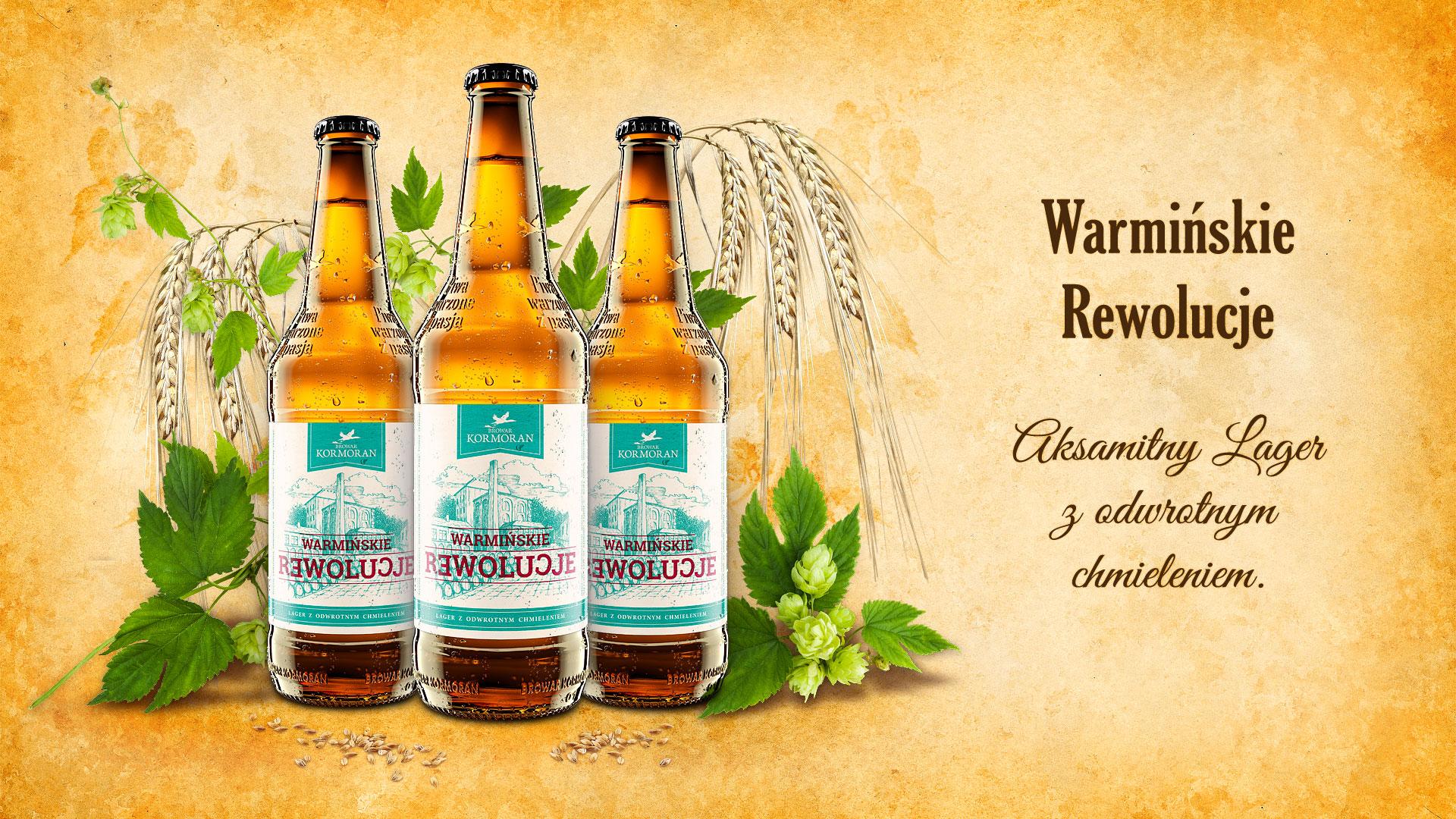 Piwo Warmińskie Rewolucje - Browar Kormoran