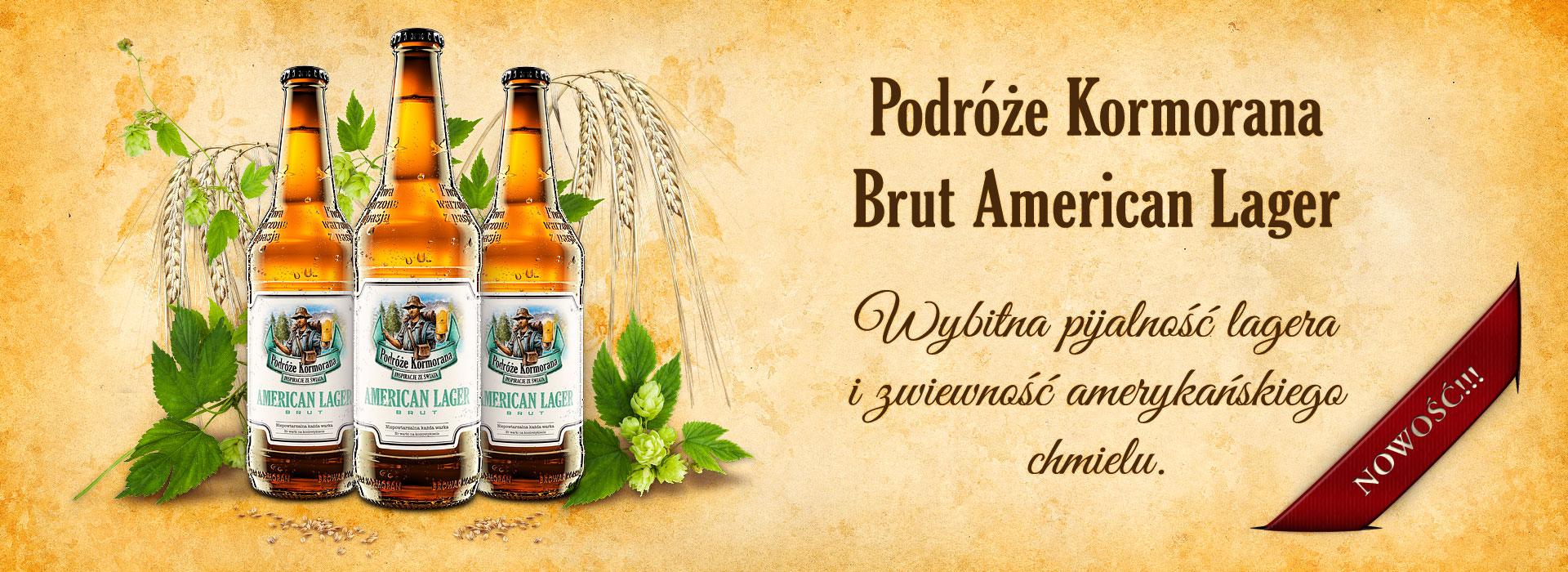 Nowość - Piwo Podróże Kormorana - Brut American Lager