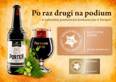 Porter warmiński - brązowy medal European Beer Star 2015