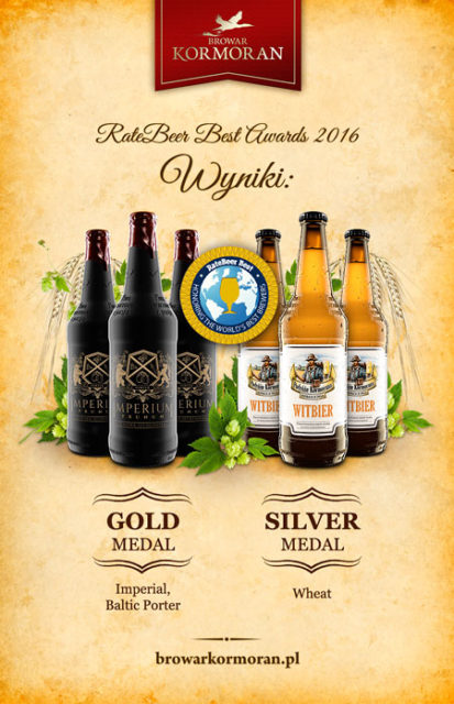 RateBeer Best Awards 2016 - Brewer Kormoran